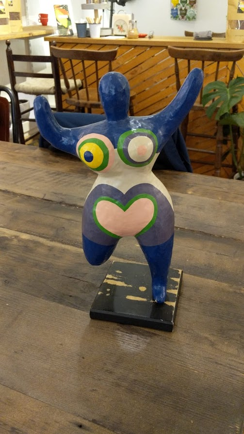 Vintage Deco Sculpture NANA by Niki de Saint Phalle