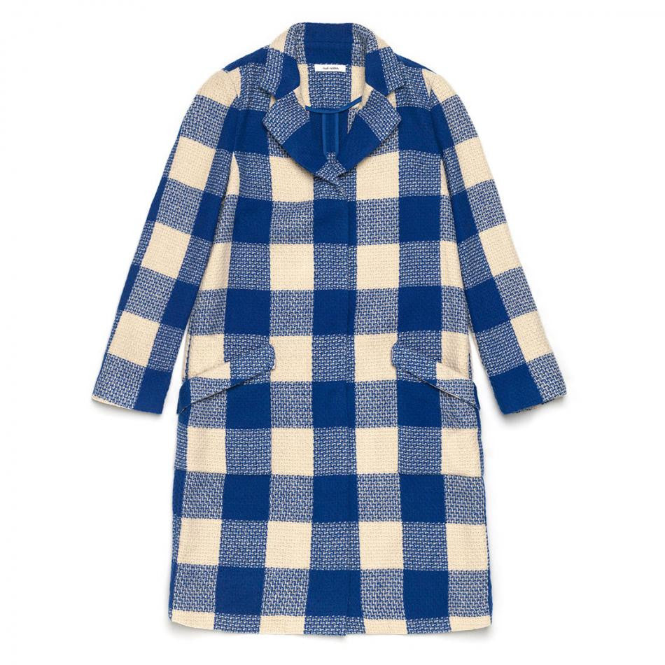 Nué Notes , Olivia Coat Royal Blue, Clothing Women, Nué Notes - Six and Sons