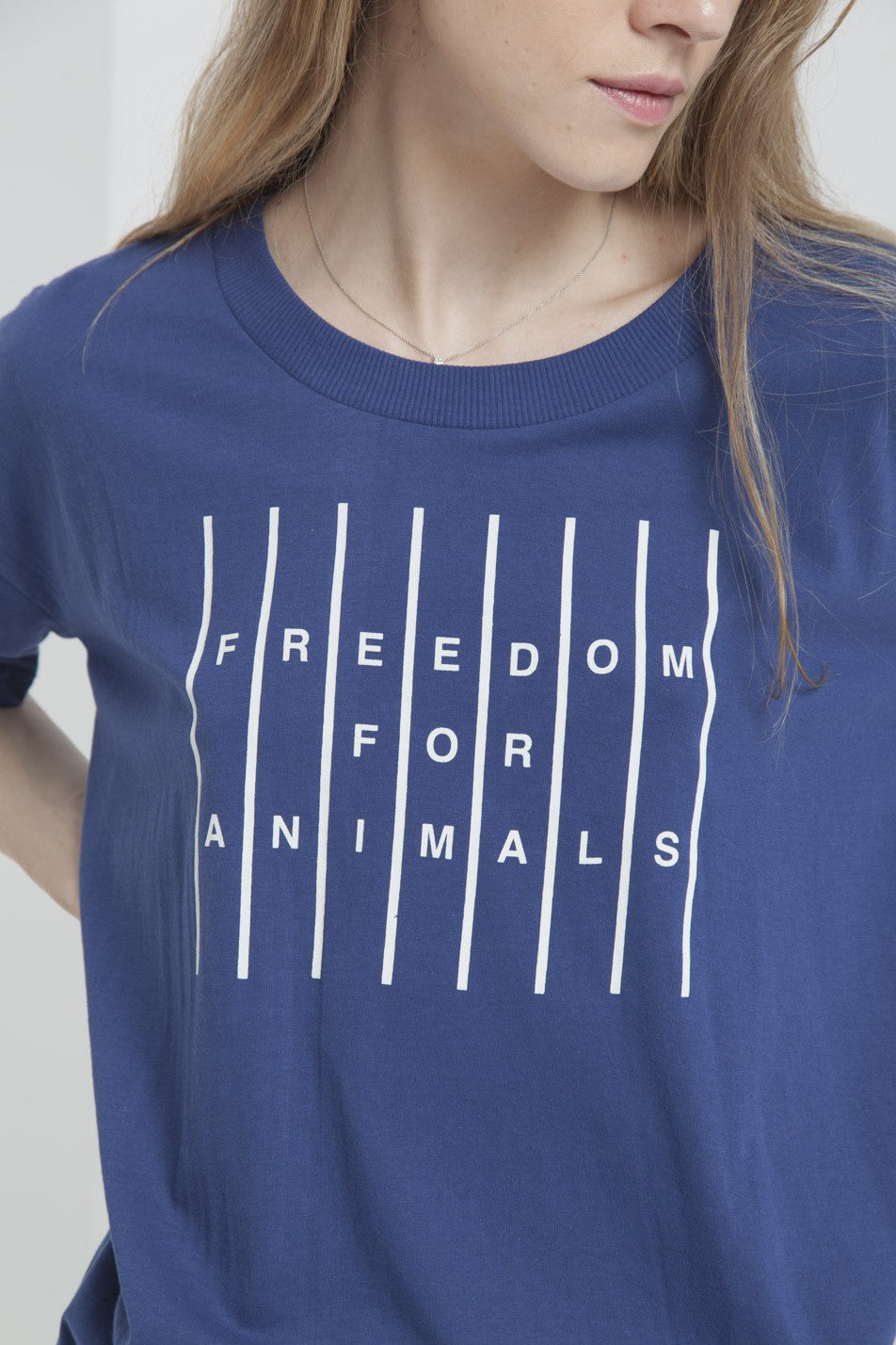 Freedom For Animals Blue T-shirt