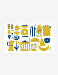 Breakfast Printed Tea Towel