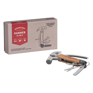 Hammer Multi-Tool 11-in-1 Wood Handles & Stainless Steel (no knives)