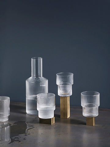 Ripple Glass (set of 4), Tableware, Ferm Living - Six and Sons
