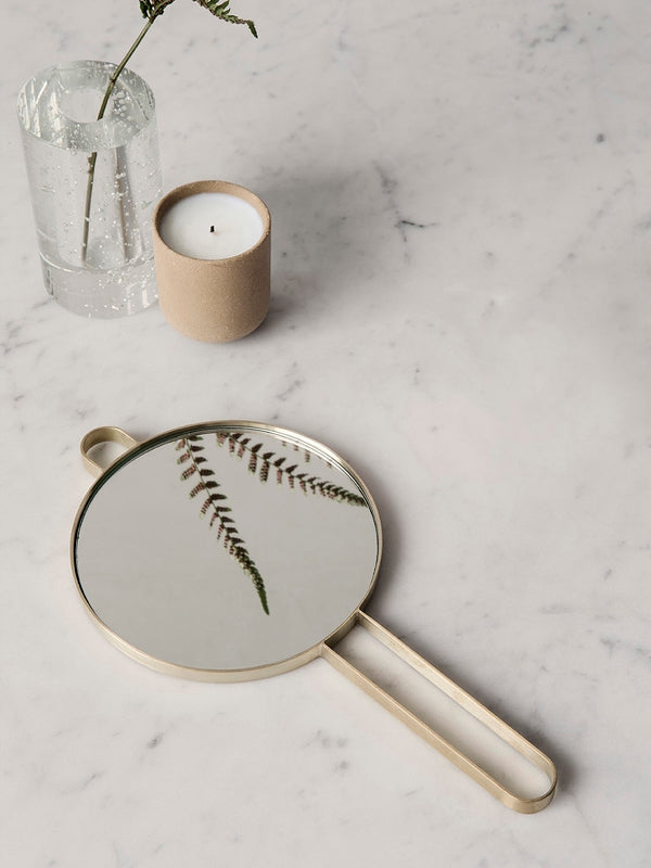 Poise Hand Mirror - Brass, Interior, Ferm Living - Six and Sons
