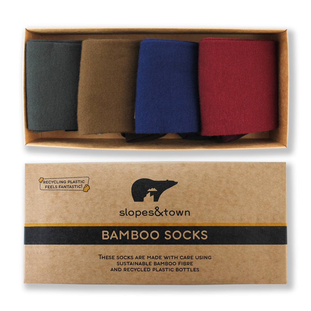 GIFT BOX Classic with Stripe Bamboo socks