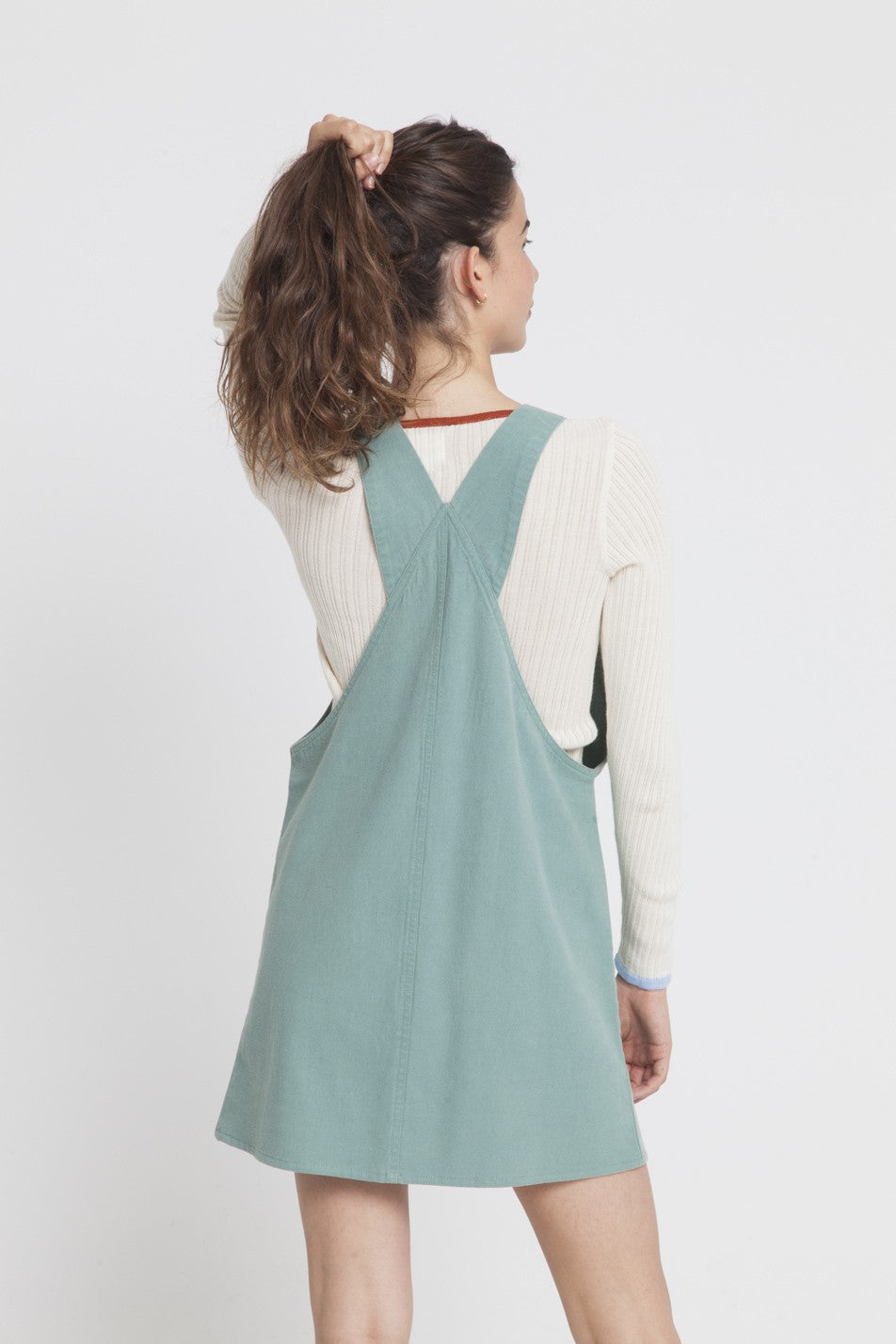 Green Amelie Dungaree Dress