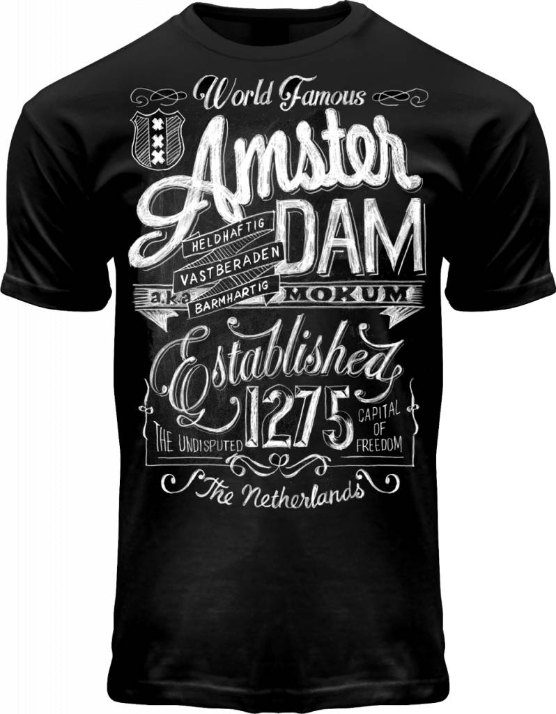 World Famous Amsterdam - Chalk T-Shirt
