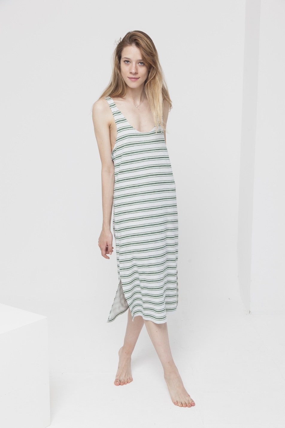 Rayas Stripe Maxi Hemp Dress