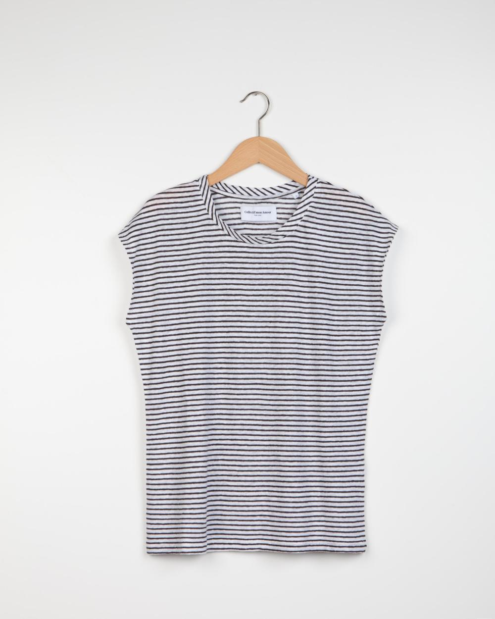 Geraldine Stripe T-shirt - White/Black