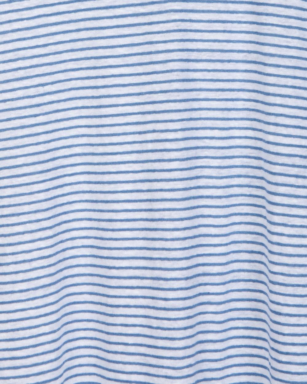 Geraldine Stripe T-shirt - White/Blue
