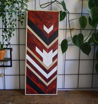 Wood wall art geometric