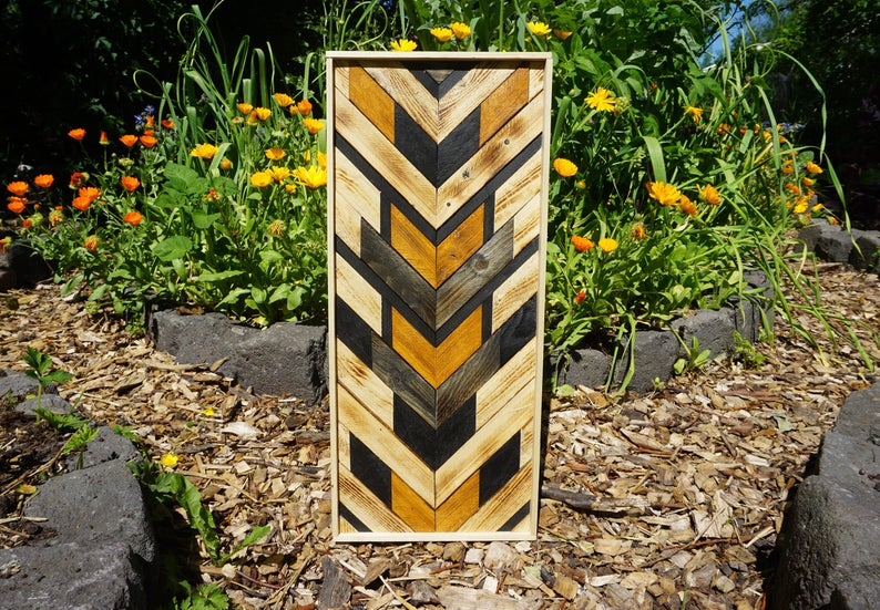 Wall Art - Geometric wood (refurbished) pattern wall art