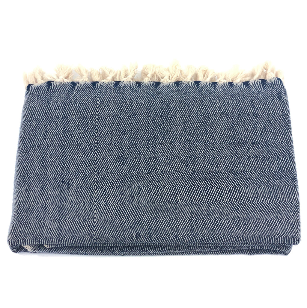 Wool Throw Merino - Night Blue
