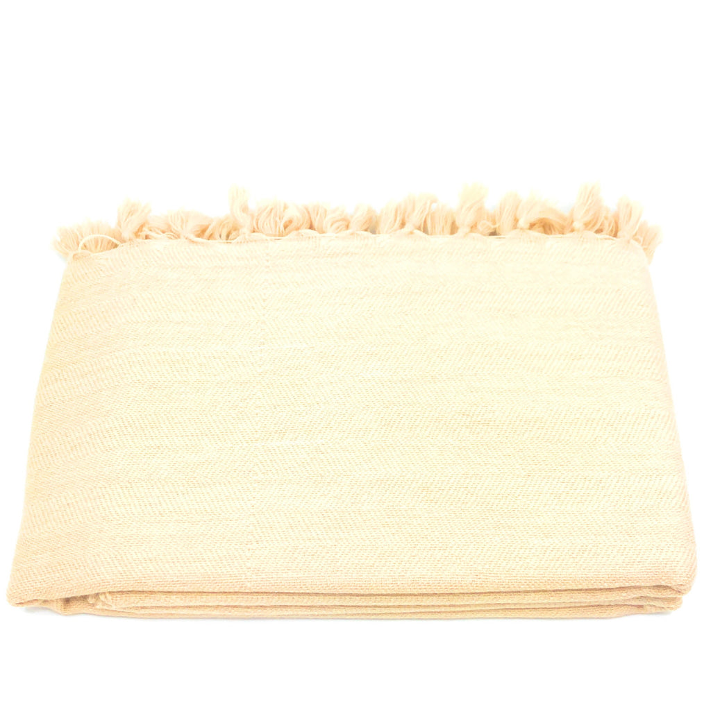 Wool Throw Merino - Natural