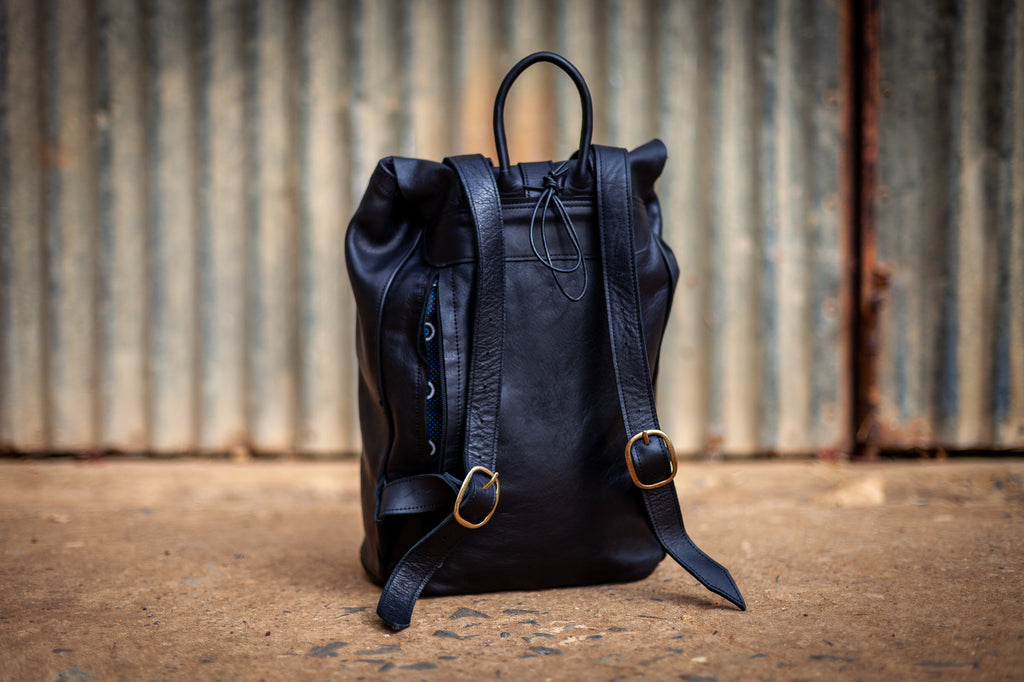Backpack 'Khoisan' Texas Black Leather