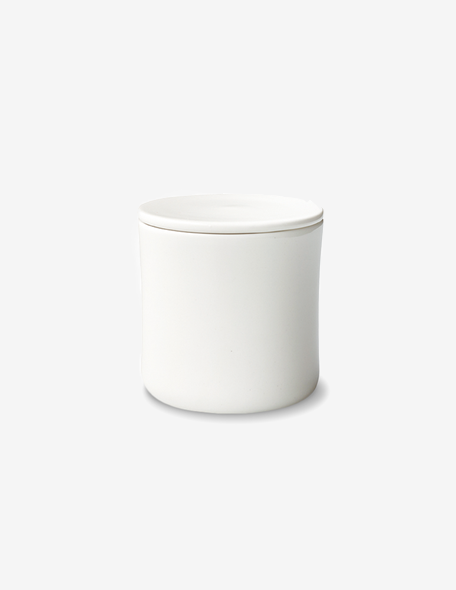 SCS coffee canister white