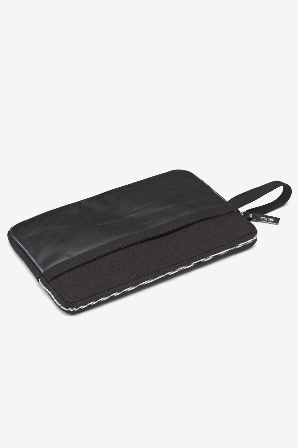 Laptop Sleeve 15 Black Leather, Bags, QWSTION - Six and Sons
