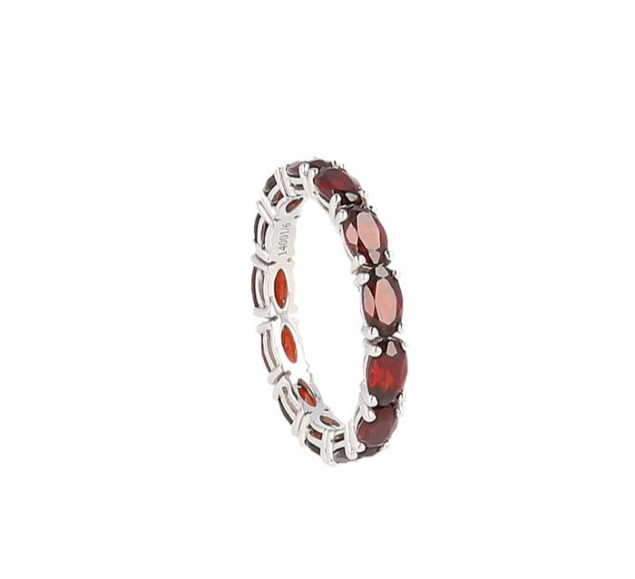 Eternity garnet ring