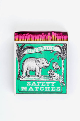Safety Matches Elephant And Lion, Gifts, The Fine Matchbox Company - Six and Sons