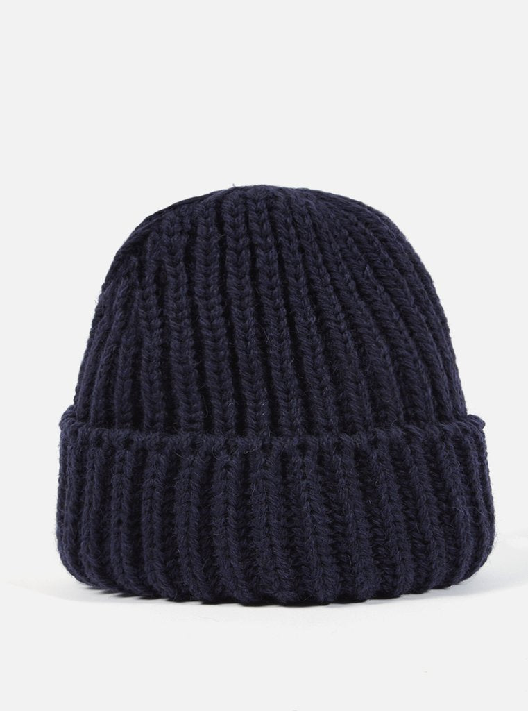 Navy British Wool Short Watch Cap