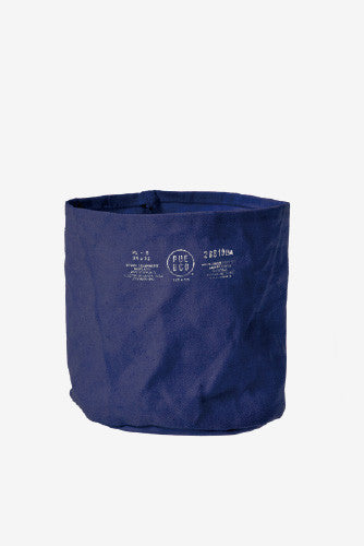 PUEBCO Canvas Pot Cover Navy Medium, Interior, Puebco - Six and Sons