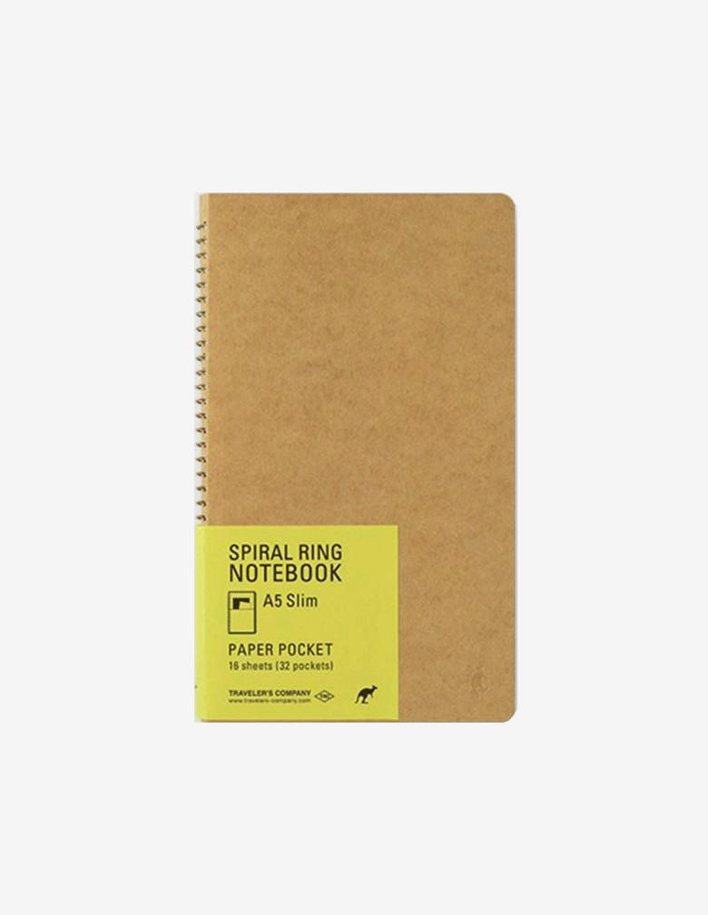 Spiral Ring Notebook <A5 Slim> Paper Pocket