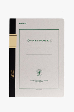Foolscap Notebook B5 - Green, Office, Penco - Six and Sons