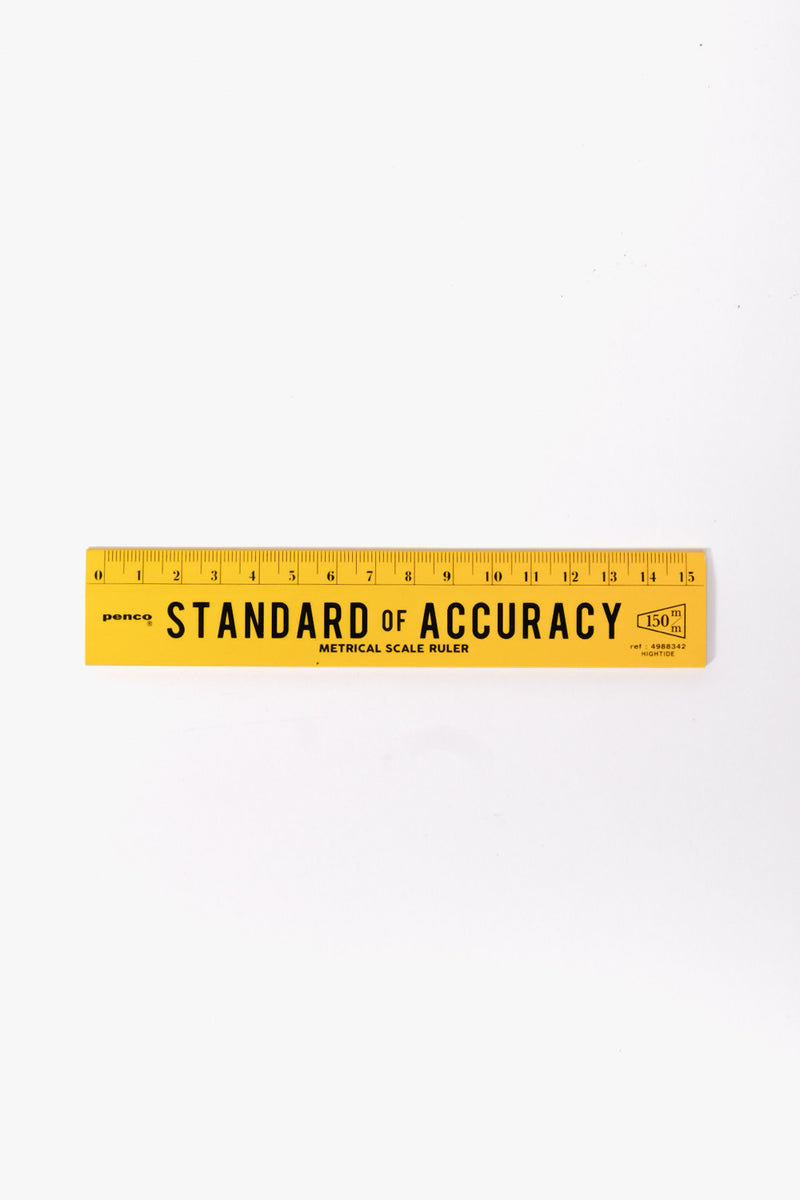 Wooden Ruler Yellow, Office, Penco - Six and Sons