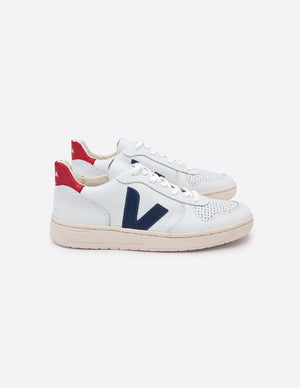 V10 Man Leather Extra White Nautico Pekin Pierre, Shoes Men, Veja - Six and Sons