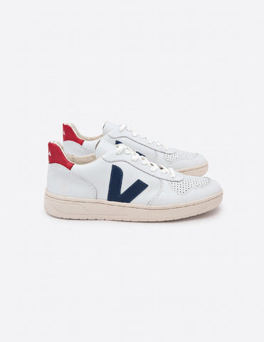 V10 Man Leather Extra White Nautico Pekin Pierre, Shoes, Veja - Six and Sons