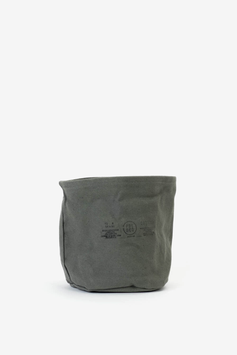 Canvas Pot Cover Green Medium, Interior, Puebco - Six and Sons