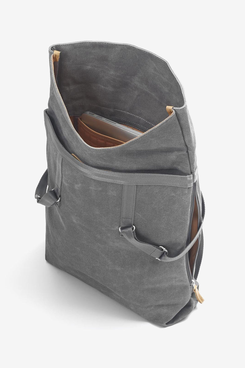Day Tote Washed Grey, Bags, QWSTION - Six and Sons