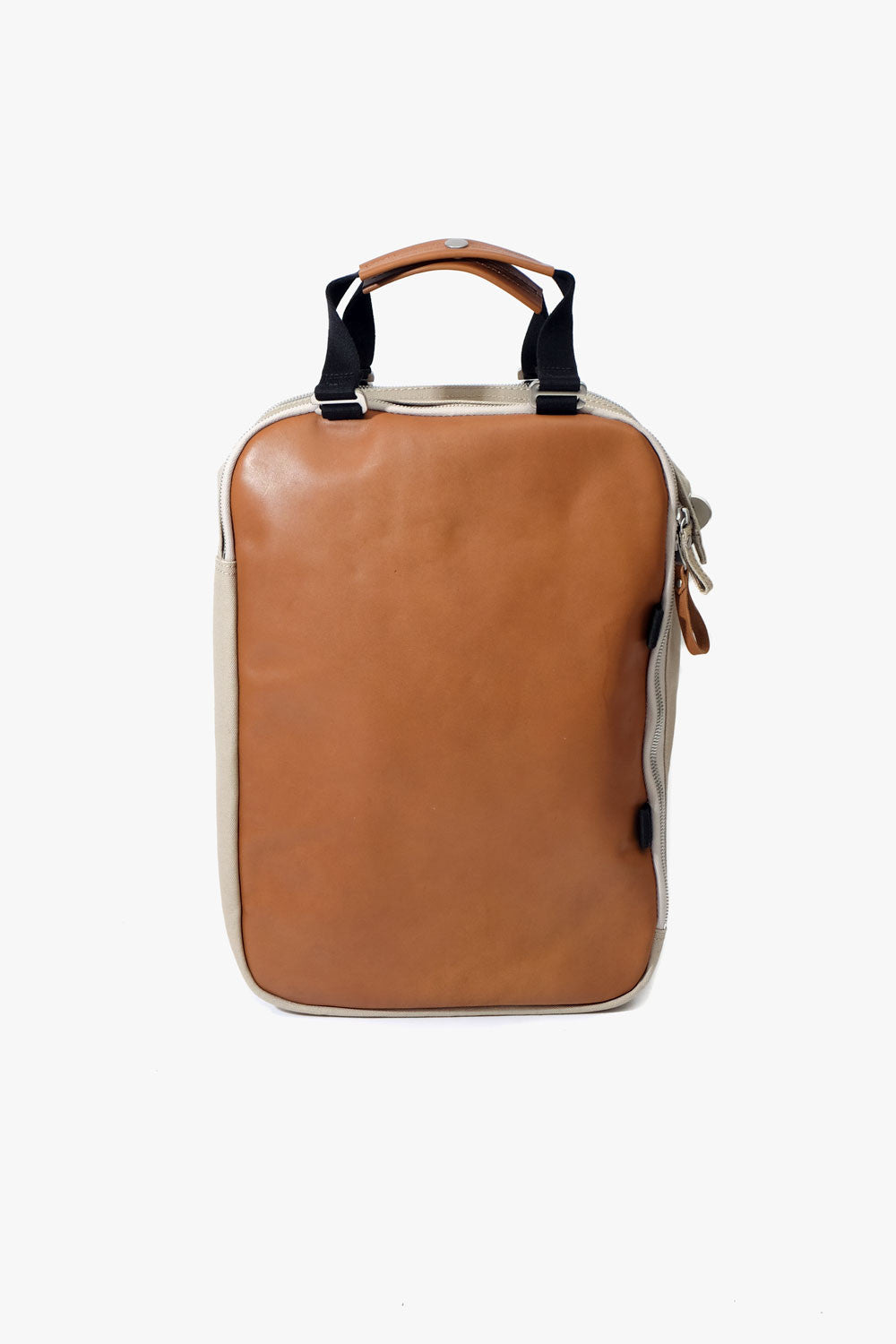 Daypack Brown Leather Canvas, Bags, QWSTION - Six and Sons