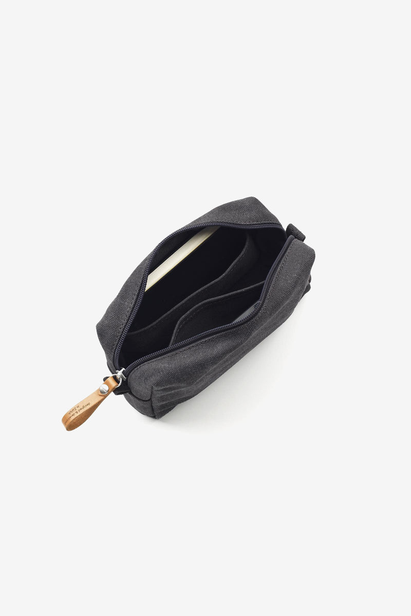 Amenity Pouch Washed Black, Bags, QWSTION - Six and Sons