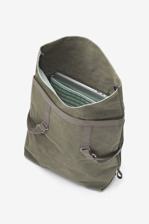 Day Tote Organic Olive Qwstion, Bags, QWSTION - Six and Sons