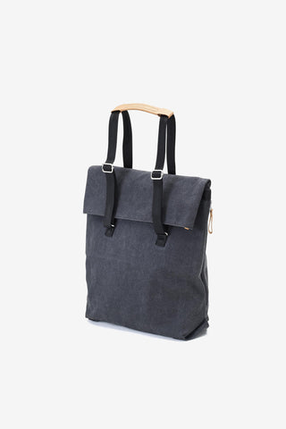 Day Tote Washed Black, Bags, QWSTION - Six and Sons