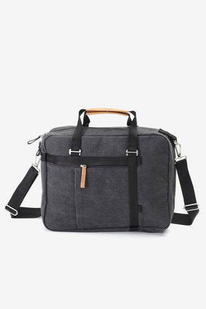 Office Tote Washed Black, Bags, QWSTION - Six and Sons