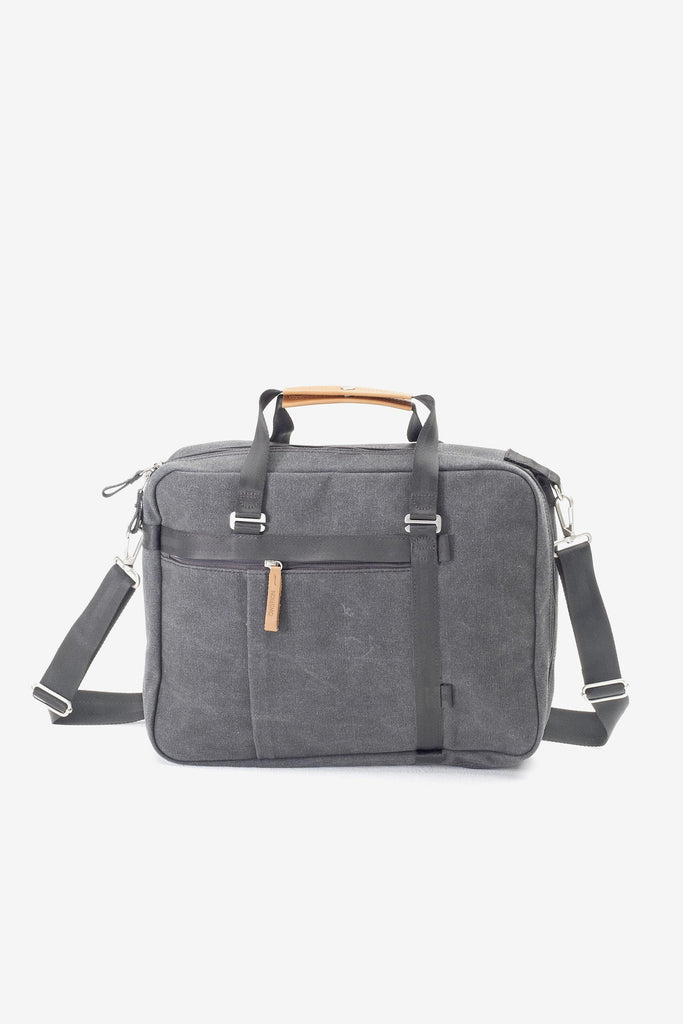 Office Tote  - Washed Grey, Bags, QWSTION - Six and Sons