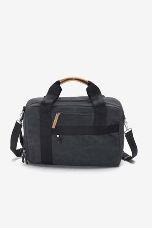 Office Bag Washed Black, Bags, QWSTION - Six and Sons