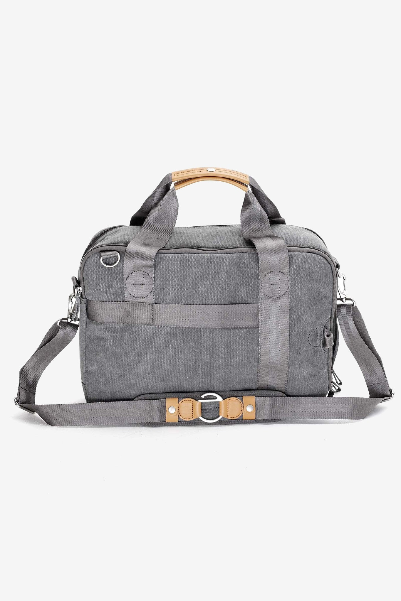 Office Bag Washed Grey, Bags, QWSTION - Six and Sons