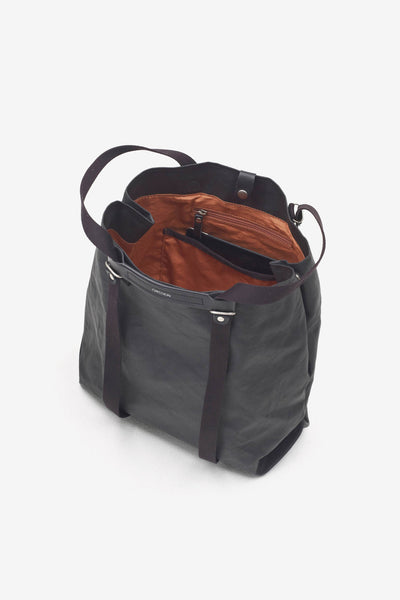 Shopper Organic Jet Black, Bags, QWSTION - Six and Sons