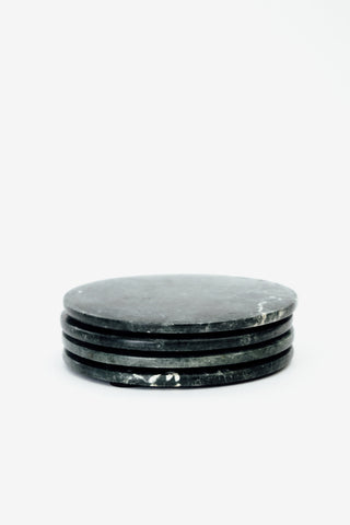 Green Marble Coasters Set Of 4