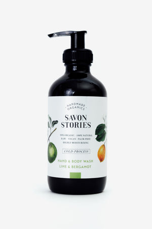 Lime & Bergamot Hand & Body Wash, Personal Care, Savon Stories - Six and Sons