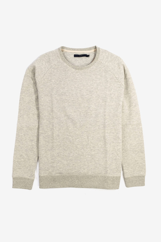 Bruce Sweatshirt Extra Light Grey Melange, Clothing Men, Suit - Six and Sons