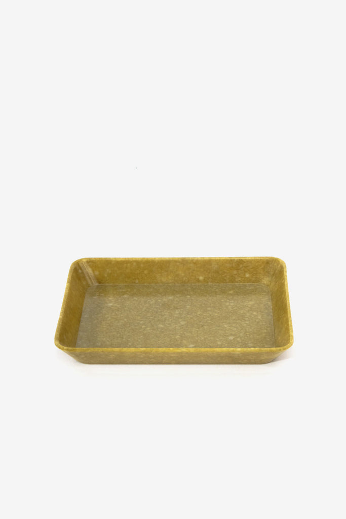 Marbled Melamine Tray Mustard S, Office, Hightide - Six and Sons