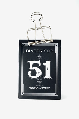 clip 51mm / silver, Office, Tools to Liveby - Six and Sons
