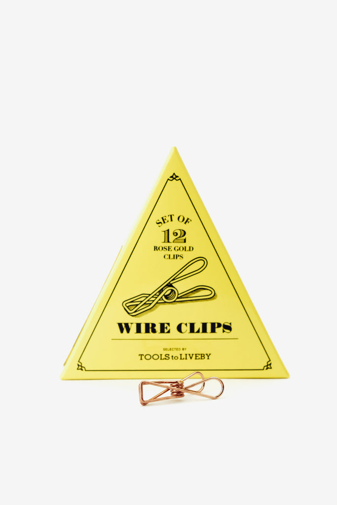 wire clip / rose golden, Office, Tools to Liveby - Six and Sons