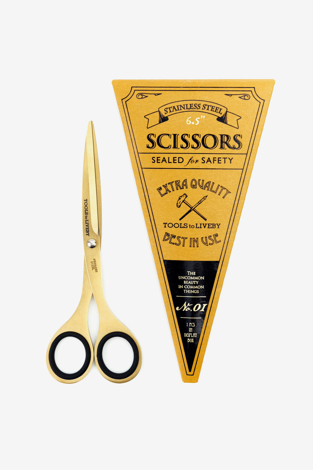 "scissors 6.5"" / gold, Office, Tools to Liveby - Six and Sons"