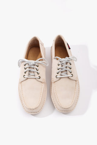 Wilton Driver 4-Eye Lace Off White Nubuck, Shoes Men, G.H. Bass - Six and Sons