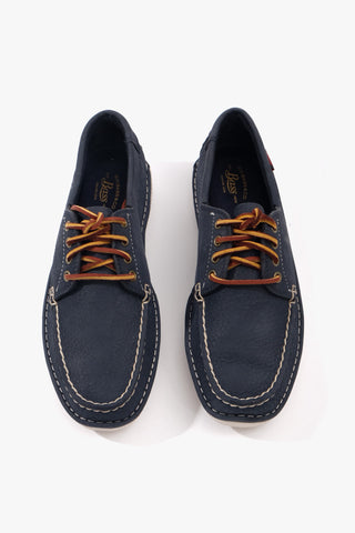 Wilton Driver 4-Eye Lace Navy Nubuck, Shoes Men, G.H. Bass - Six and Sons