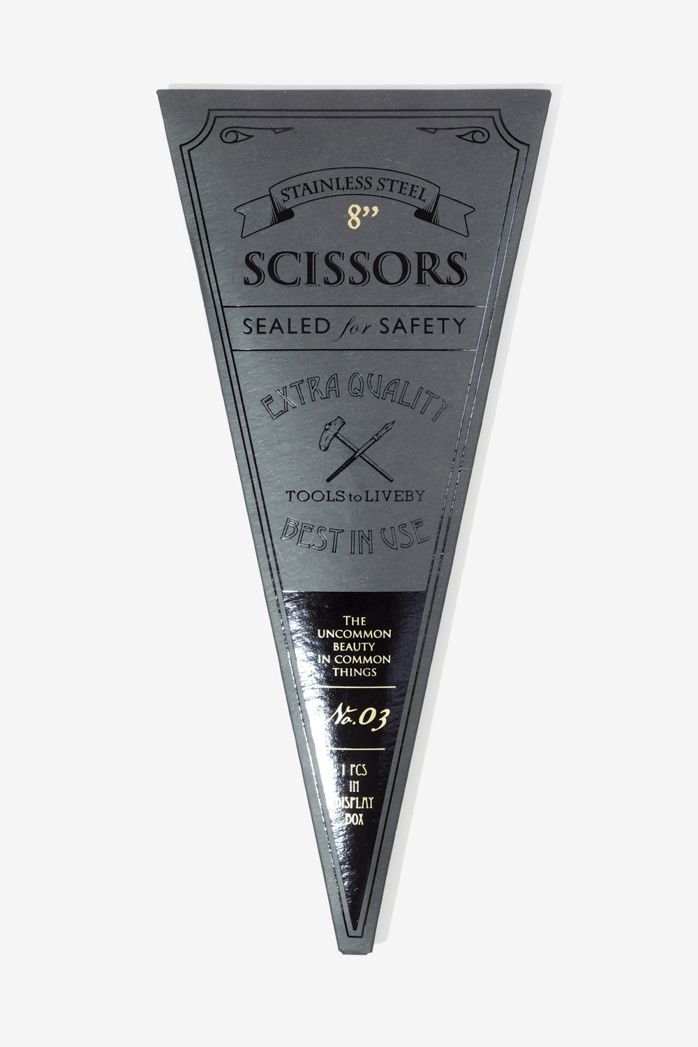 Scissors 8 inch Black, Office, Tools to Liveby - Six and Sons